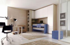 Comp. 205, Dormitorio de los niños personalizados, la racionalización de las áreas
