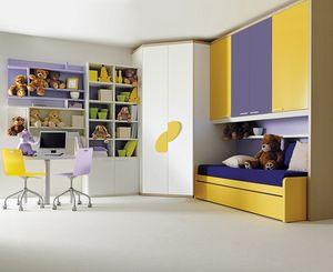 Comp. 209, Los muebles del dormitorio de los niños, en madera laminada