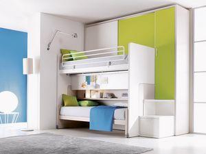 Comp. 302, Dormitorio con cama litera, personalizable