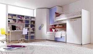Comp. 401, Solución para la habitación de los niños, patentado cama alta