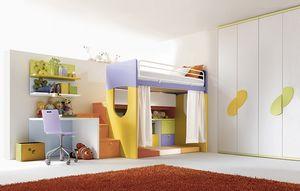 Comp. 902, Muebles de dormitorio para niños sala personalizable
