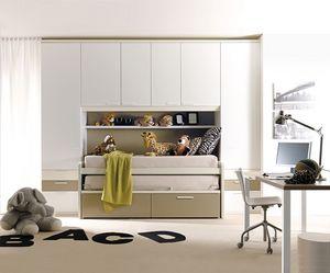 Comp. 932, Habitaciones de colores, diseño geométrico y esencial