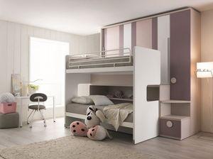 Comp. New 155, Ahorrar espacio dormitorio con tres camas y un armario