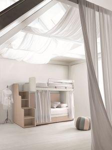 Comp. New 160, Literas ideal para habitaciones pequeñas, con cajones que ahorran espacio