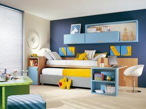 Compact 4005, Dormitorio con segunda cama-nido.