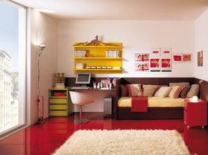 Compact 4006, Muebles de dormitorio infantil para una habitación pequeña.