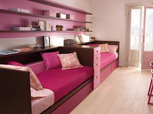 Compact 7040, Dormitorio rosa para niñas pequeñas.