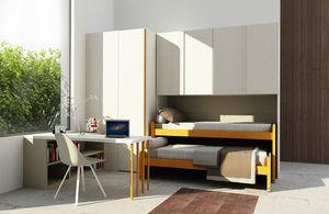 Cool comp.12, Habitación para niños con camas que ahorran espacio