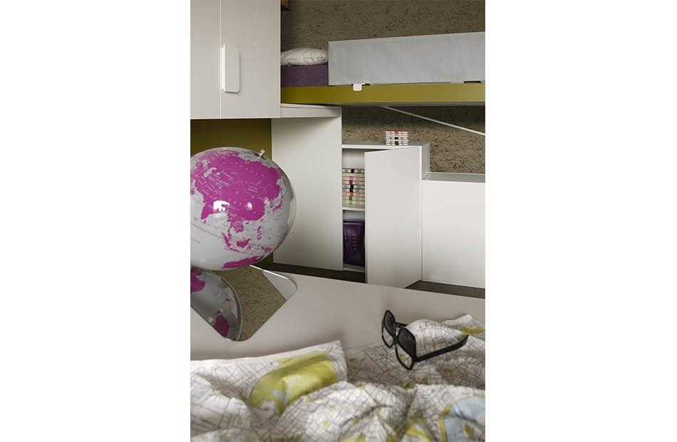 Cool comp.23, Dormitorio ahorrador de espacio con camas deslizantes