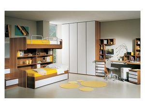 Kids Bedroom 2, Los muebles para niños, con literas, escritorio y armario