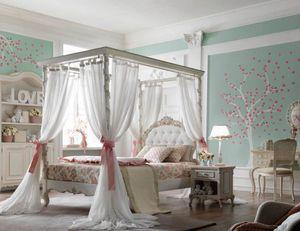 Luigi XVI Luigino, Dormitorio de niña, con un estilo elegante y lujoso.
