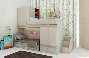 Natural comp.19, Dormitorio que ahorra espacio con literas