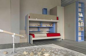 Natural comp.21, Dormitorio con litera y módulo de almacenamiento