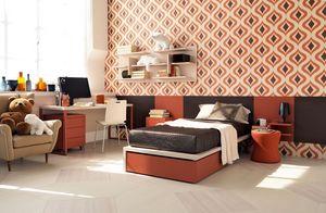 Comp. New 139, Dormitorio moderno con escritorios y librerías