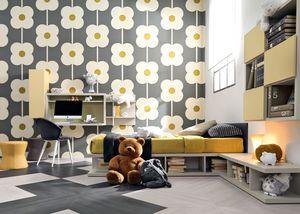 Comp. New 143, Habitación individual niño con cama, escritorio, librero y asientos