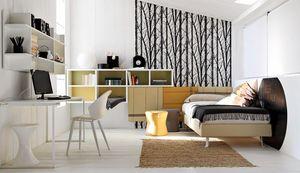 Comp. New 145, Equipamiento habitaciones para los niños, con escritorio
