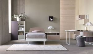 Comp. New 148, Dormitorio moderno para las niñas, en varios colores