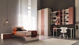 Comp. New 150, Sitio moderno para los niños, con armarios y armarios de pared
