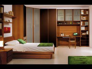 Niños Dormitorio 01, Dormitorio para niños, hecha con materiales verdes