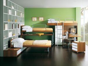 Niños Dormitorio 04, Dormitorio para niños con literas