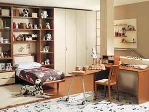 Niños Dormitorio 05, Dormitorio para niños, adaptable e innovador