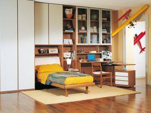 Niños Dormitorio 06, Dormitorio modular para los niños, de alta calidad