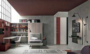 Tommy comp. 01, Muebles de dormitorio para adolescentes