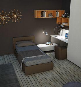 Warm comp.02, Dormitorio para niños con cama acolchada