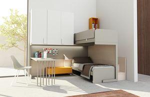 Warm comp.15, Dormitorio de niño en esquina con litera