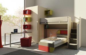 Warm comp.16, Habitación para niños con litera y armario