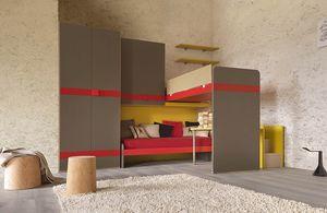 Warm comp.22, Dormitorio para niños con escalera equipada con un contenedor