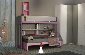 Warm comp.24, Dormitorio para niñas, con litera