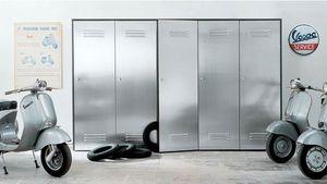 CITYBOX comp.03, Armario con puertas de acero para garajes y gimnasios
