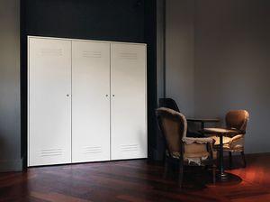 CITYBOX comp.06, Contenedores modulares en acero inoxidable, para oficinas y gimnasios