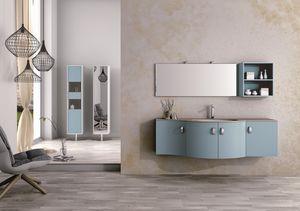Round AM 121, Muebles de baño, con líneas sinuosas, diversos materiales