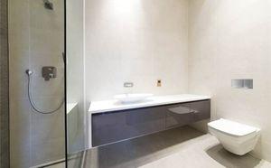 Muebles de ba�o AS design, Muebles de ba�o con sistema modular, formas b�sicas, diferentes acabados, puertas de cierre de im�n