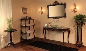Art. 901-SH Clara, Muebles de baño, realizado en madera de haya, encimera de mármol
