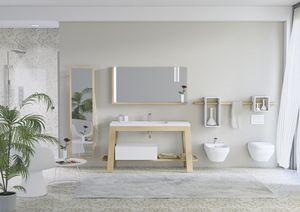 Bath Table 01, Gabinete en la ceniza de ba�o, con espejo de albornoces