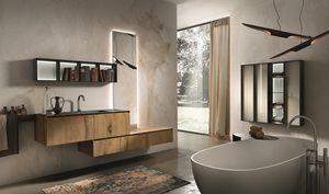 Chrono 310, Composición de baño hecha de antigüedades de madera de roble y mármol Marengo