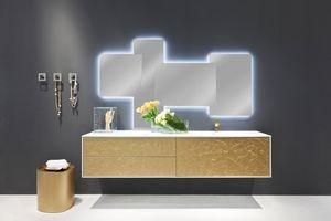 Cocò Flower 01, Muebles de lujo para baño, decorado a mano