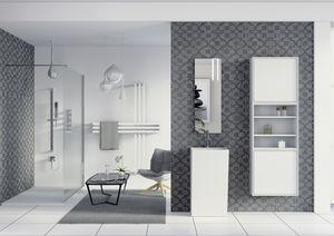 Domino 08, Muebles de ba�o, espejo y armario con estanter�as