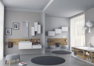 Domino 09, Muebles de ba�o, con muebles de pared lacado