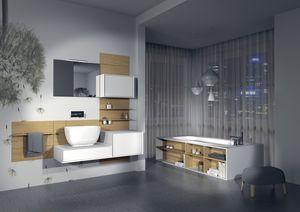 Domino 12, Muebles de ba�o, adaptable, varios acabados