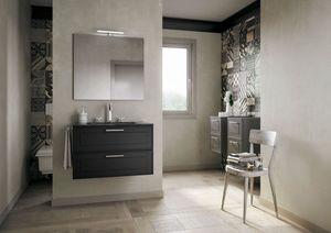 Dressy comp.03, Elegante gabinete de baño con cajones