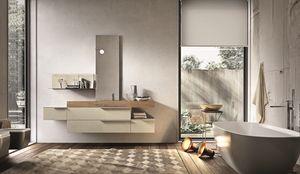 Giunone 354, Composición de los muebles para baño de cemento de melamina perla