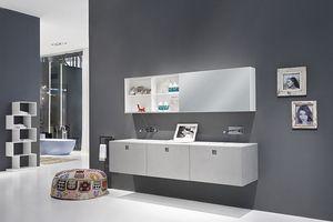 Kube 03, Muebles de baño elegante, con líneas modernas