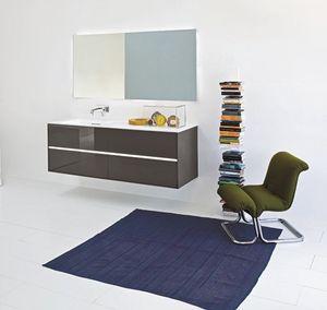 Light 03, Muebles de baño, con acabado pulido gris