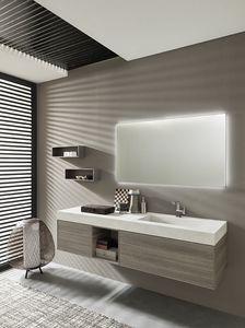 Lime Ø comp.41, Composición del baño, con espejo retroiluminado