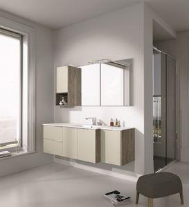 Singoli S 27, Muebles de ba�o con lavabo y armarios