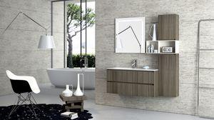Torana TR 004, Mueble con lavabo, con acabado tramo, diversos tamaños